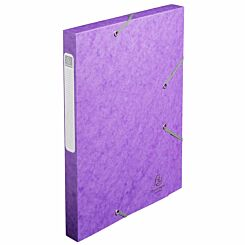 Exacompta Cartobox Box File 25mm 400g A4 Pack of 25 Purple