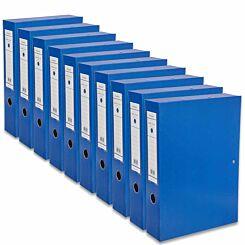 Ryman Premium Box File Foolscap Pack of 10 Royal Blue