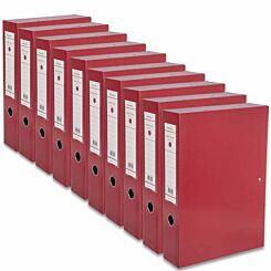 Ryman Premium Box File Foolscap Pack of 10 Burgundy