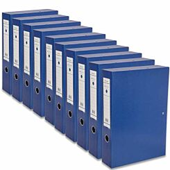 Ryman Premium Box File Foolscap Pack of 10 Dark Blue