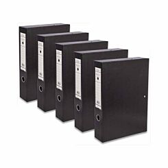 Ryman Premium Box File Foolscap Pack of 5 Black