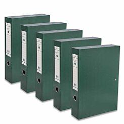 Ryman Premium Box File Foolscap Pack of 5 Dark Green