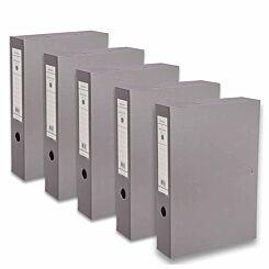 Ryman Premium Box File Foolscap Pack of 5 Dark Grey