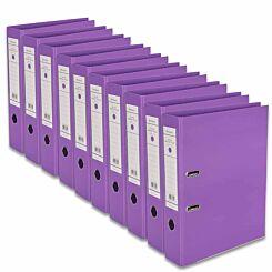 Ryman Premium Lever Arch Files Foolscap Pack of 10 Purple