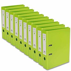 Ryman Premium Lever Arch Files Foolscap Pack of 10 Lime