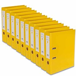 Ryman Premium Lever Arch Files Foolscap Pack of 10 Yellow
