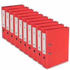 Ryman Premium Lever Arch Files Foolscap Pack of 10 Red