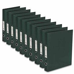 Ryman Premium Ring Binder A4 Pack of 10 Dark Green
