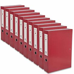 Ryman Premium Box File A4 Pack of 10 Red