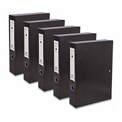 Ryman Premium Box File A4 Pack of 5 Black