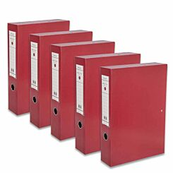 Ryman Premium Box File A4 Pack of 5 Red