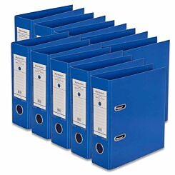 Ryman Premium Lever Arch A5 Pack of 10 Royal Blue