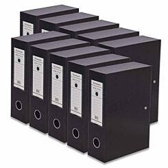 Ryman Premium Box File A5 Pack of 10 Black