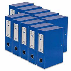Ryman Premium Box File A5 Pack of 10 Royal Blue