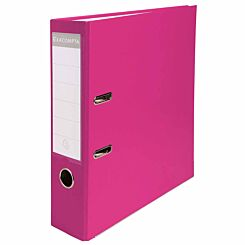 Exacompta Lever Arch File A4 PP 80mm Pack of 20 Raspberry