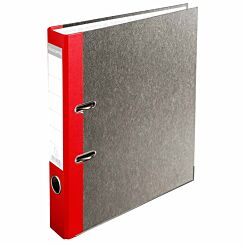 Exacompta PremTouch Lever Arch File A4 50mm Marbled Grey Pack of 20 Red