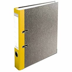 Exacompta PremTouch Lever Arch File A4 50mm Marbled Grey Pack of 20 Yellow