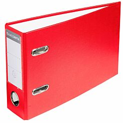 Exacompta Lever Arch File A5 Landscape 70mm Pack of 10 Red