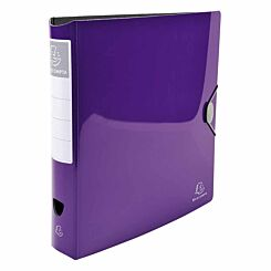 Exacompta Iderama Glossy Lever Arch File A4 PP 75mm Pack of 6 Purple
