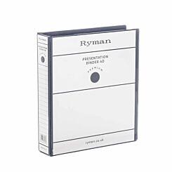 Ryman Presentation Ring Binder A4 4D Ring 25mm Black