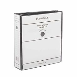 Ryman Presentation Ring Binder A4 4D Ring 65mm Black