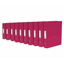Ryman Premium Ring Binder Pack of 10 Pink