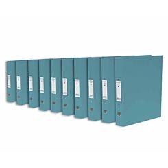 Ryman Premium Ring Binder Pack of 10 Sky Blue