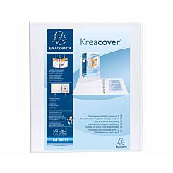 Exacompta Kreacover Ring Binder 4 D Rings 20mm A4 Plus Pack of 10 White