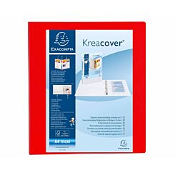Exacompta Kreacover Ring Binder 4 D Rings 40mm A4 Plus Pack of 10 Red