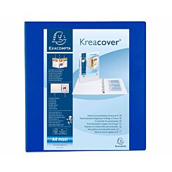 Exacompta Kreacover Ring Binder 4 D Rings 60mm A4 Plus Pack of 10