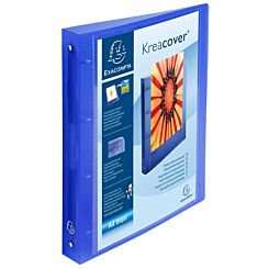 Exacompta  Kreacover Chromaline Ring Binder A4 Plus Pack of 12 Clear Blue