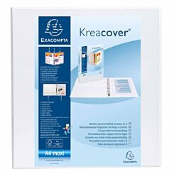 Exacompta Kreacover Personalisation Ring Binder 2 Ring 60mm A4 Plus Pack of 10