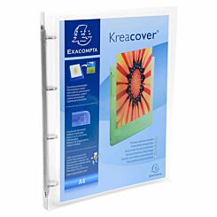 Exacompta Kreacover ChromaLine Ring Binder A4 4 Ring 15mm Pack of 12 Clear