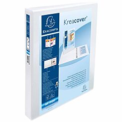 Exacompta Kreacover Personal Ring Binder A4 Plus 2 Rings 30mm 3 Pockets Pack of 10 White