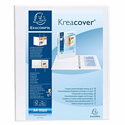 Exacompta Kreacover Personal Ring Binder A4 Plus 2 Rings 20mm 2 Pockets Pack of 10 White
