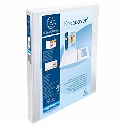 Exacompta Kreacover Personal Ring Binder A4 Plus 2 Rings 30mm 2 Pockets Pack of 10 White