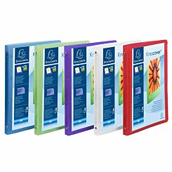 Exacompta Kreacover Chromaline Ring Binder 4 Ring 15mm A4 Pack of 5 Assorted