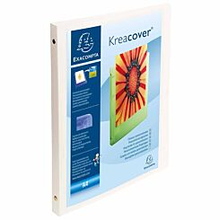 Exacompta Kreacover Opaque Soft Ring Binder A4 4 Rings 15mm 2 Pockets Pack of 5 White