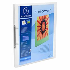 Exacompta Kreacover Chromaline Ring Binder 2 Ring 15mm A4 Pack of 25 Clear