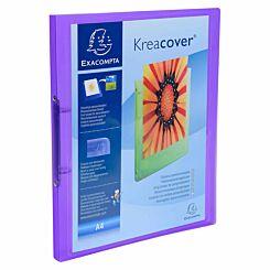 Exacompta Kreacover Chromaline Ring Binder 2 Ring 15mm A4 Pack of 25 Purple