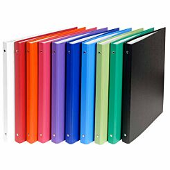 Exacompta PP Ring Binder A4 4 Rings 15mm Pack of 20 Assorted