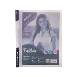 Snopake Triple View Ringbinder A4 2 Ring 15mm Clear