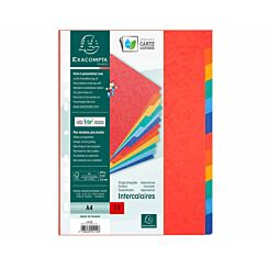 Exacompta Nature Future Dividers 12 Part A4 225gsm Pack of 25
