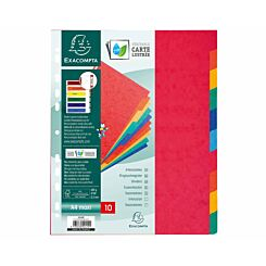 Exacompta Nature Future Dividers 10 Part A4 Plus 225gsm Pack of 10