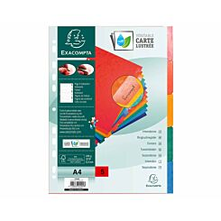 Exacompta Pressboard Dividers 5 Section A4 225g Pack of 25