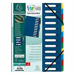 Exacompta Harmonika Multipart File A4 12 Part Pack of 6 Blue
