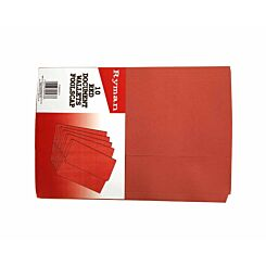 Ryman Document Wallets Foolscap Pack of 10 Red