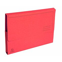 Exacompta Forever Document Wallets A4 2 Packs of 50 290gsm Red