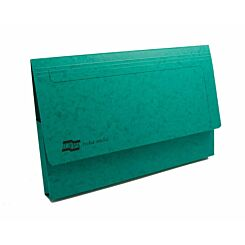Exacompta Europa Document Wallet Foolscap Pack of 25 265gsm Green