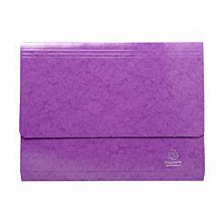 Exacompta Iderama Document Wallet Foolscap Pack of 25 265gsm Purple